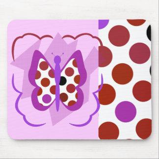 Artsy Polka Dot Butterfly Mousepad