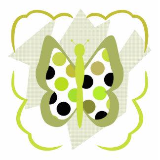 Artsy Polka Dot Butterfly Ornament Acrylic Cut Out