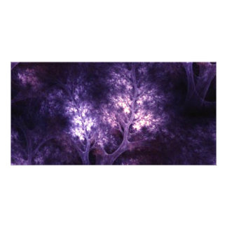 artsy_purple_trees picture card