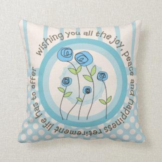 Artsy Retirement Pillow Whimsical Flowers