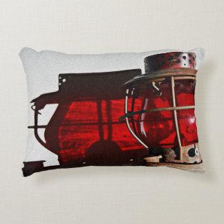Artsy Rustic Antique Railroad Lantern Decorative Cushion