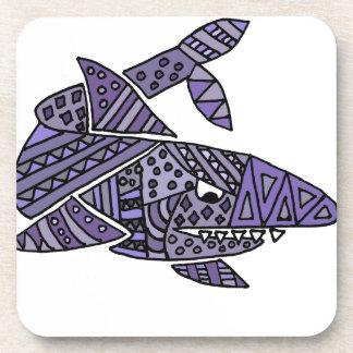 Artsy Shark Drink Coaster