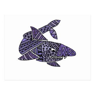 Artsy Shark Postcard