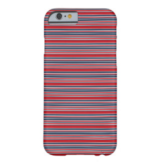 Artsy Stripes in Patriotic Red White and Blue Barely There iPhone 6 Case