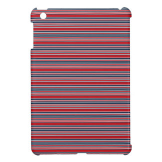 Artsy Stripes in Patriotic Red White and Blue Case For The iPad Mini