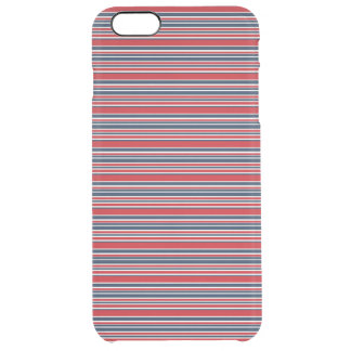 Artsy Stripes in Patriotic Red White and Blue Clear iPhone 6 Plus Case