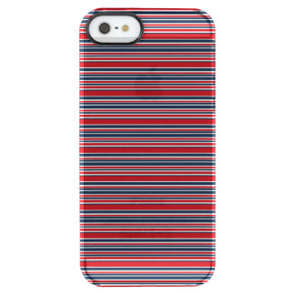 Artsy Stripes in Patriotic Red White and Blue Clear iPhone SE/5/5s Case