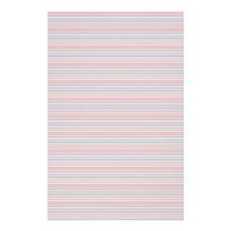 Artsy Stripes in Patriotic Red White and Blue Customized Stationery