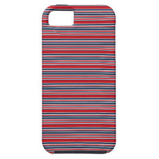 Artsy Stripes in Patriotic Red White and Blue iPhone 5 Covers