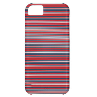 Artsy Stripes in Patriotic Red White and Blue iPhone 5C Case