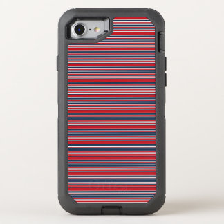 Artsy Stripes in Patriotic Red White and Blue OtterBox Defender iPhone 7 Case
