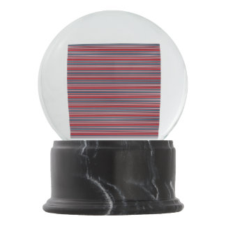 Artsy Stripes in Patriotic Red White and Blue Snow Globes