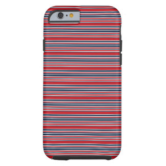 Artsy Stripes in Patriotic Red White and Blue Tough iPhone 6 Case