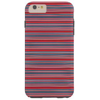 Artsy Stripes in Patriotic Red White and Blue Tough iPhone 6 Plus Case