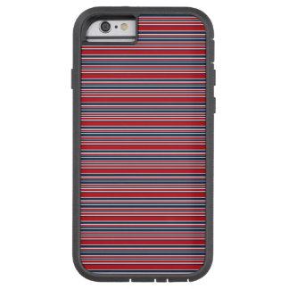 Artsy Stripes in Patriotic Red White and Blue Tough Xtreme iPhone 6 Case