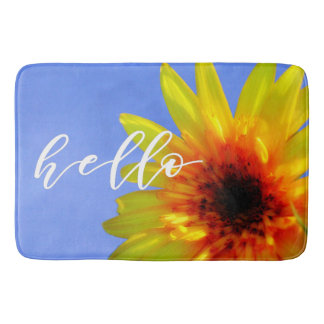 Artsy Sunflower Bold Bright Hello Sunshine Bath Mat