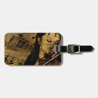 Artsy Violin Music Bag Tag
