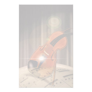 Artsy Violin Music Customised Stationery