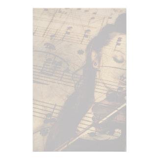 Artsy Violin Music Stationery Design