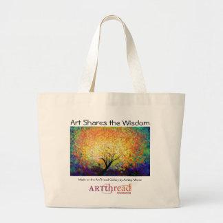 ArtThread Jumbo Tote - Share the Wisdom!