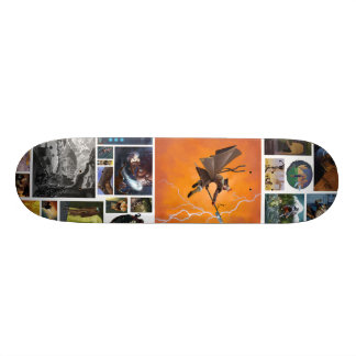 artwork 21.6 cm old school skateboard deck