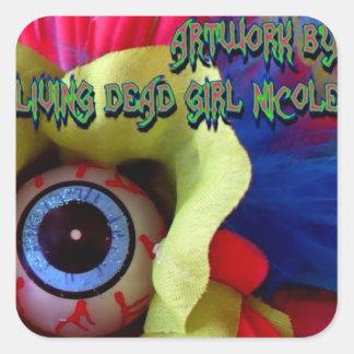 Artwork By Living Dead Girl Nicole Eye Scream Stic Square Sticker