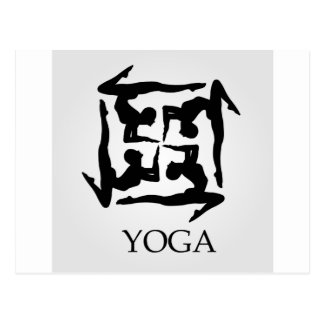 artwork for yoga postcard