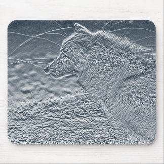artwork wolf mouse pad