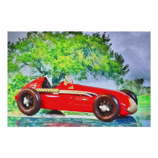 Artworks by Jean Louis Glineur - Italian Racecar Poster