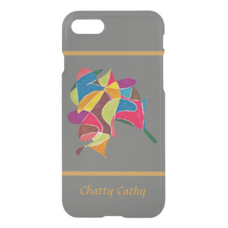 Arty Colorful Pencil Sketch 02 with Your Text iPhone 8/7 Case