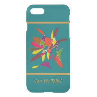 Arty Colorful Pencil Sketch Can We Talk iPhone 8/7 Case