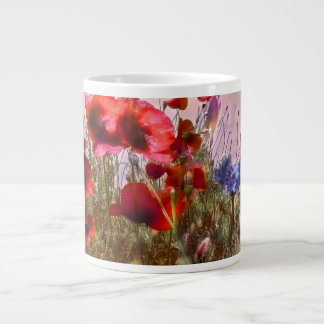 Arty poppies giant coffee mug