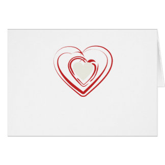 Arty Red Heart Card