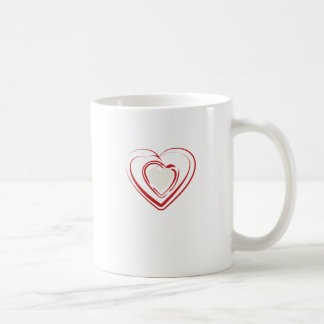 Arty Red Heart Coffee Mug