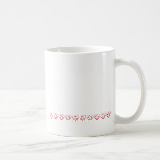 Arty Red Heart Row Coffee Mug