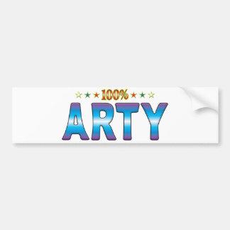 Arty Star Tag v2 Bumper Sticker