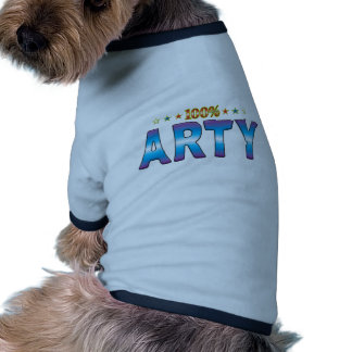 Arty Star Tag v2 Dog T-shirt
