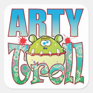 Arty Troll Square Sticker