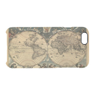 Arty Vintage Old World Map Clear iPhone 6/6S Case