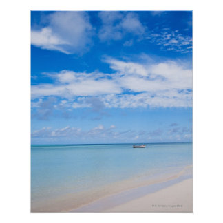 Aruba, beach and sea poster