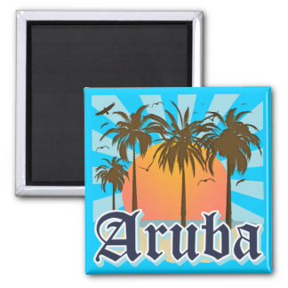 Aruba Beaches Sunset Magnet