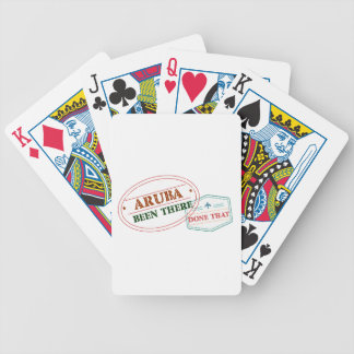 Aruba Been There Done That Bicycle Playing Cards