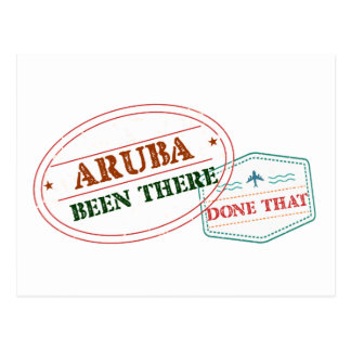 Aruba Been There Done That Postcard