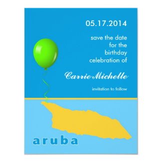 Aruba Birthday Save the Date Announcement