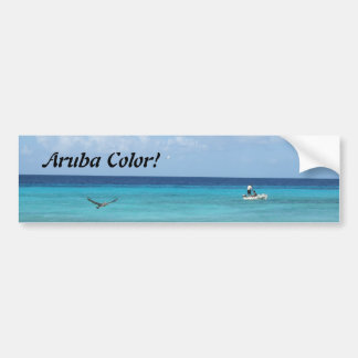 Aruba!  Caribbean Color Bumper Sticker