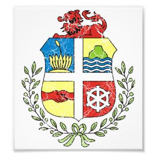 Aruba Coat Of Arms Photograph