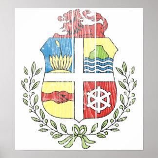 Aruba Coat Of Arms Poster