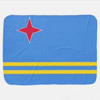 Aruba Flag Baby Blanket