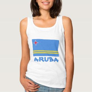 Aruba Flag Customizable Blue Text Singlet