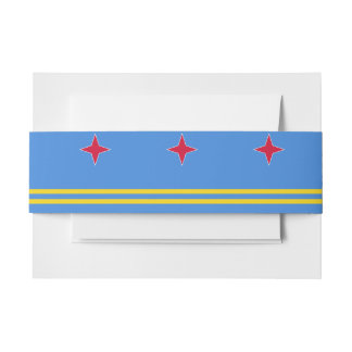 Aruba Flag Invitation Belly Band